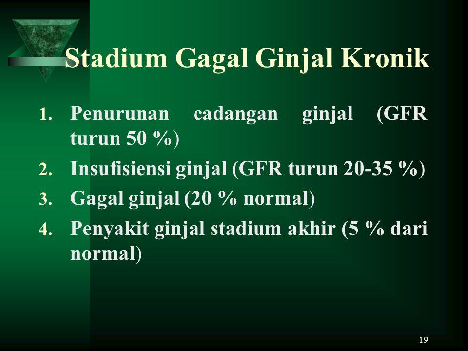 Stadium Gagal Ginjal Kronik