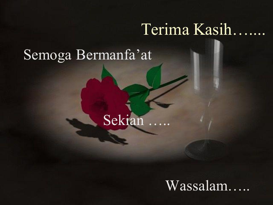 Terima Kasih….... Semoga Bermanfa'at Sekian ….. Wassalam…..