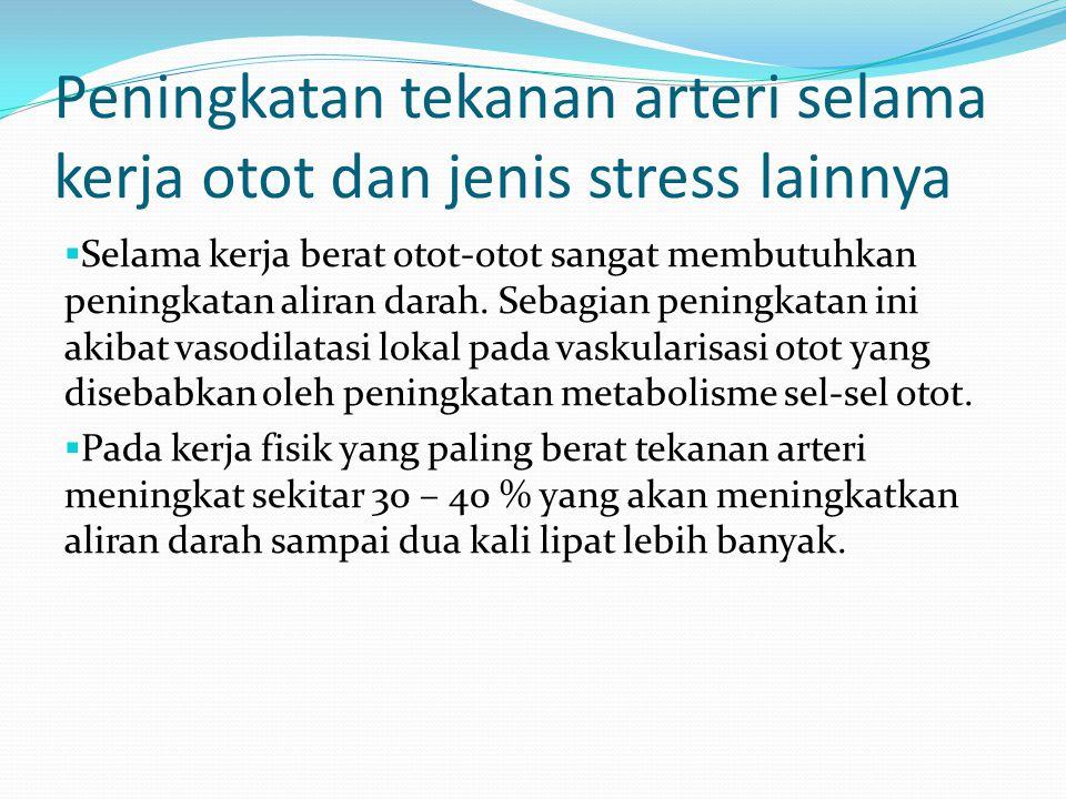 Peningkatan tekanan arteri selama kerja otot dan jenis stress lainnya