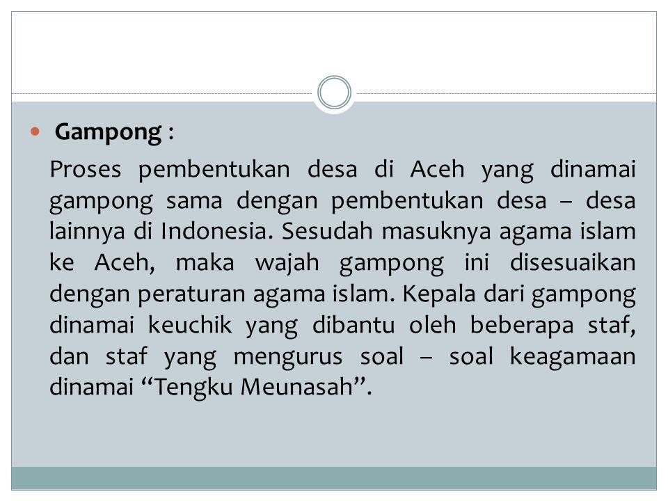 Gampong :