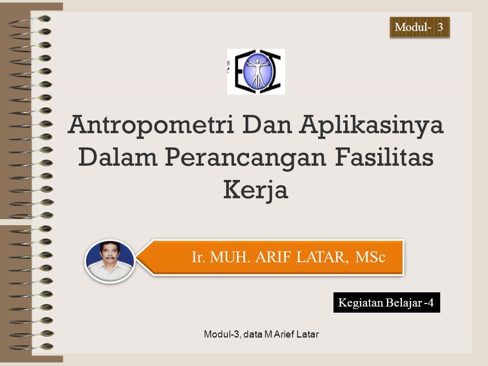 Antropometri Dan Aplikasinya Dalam Perancangan Fasilitas Kerja