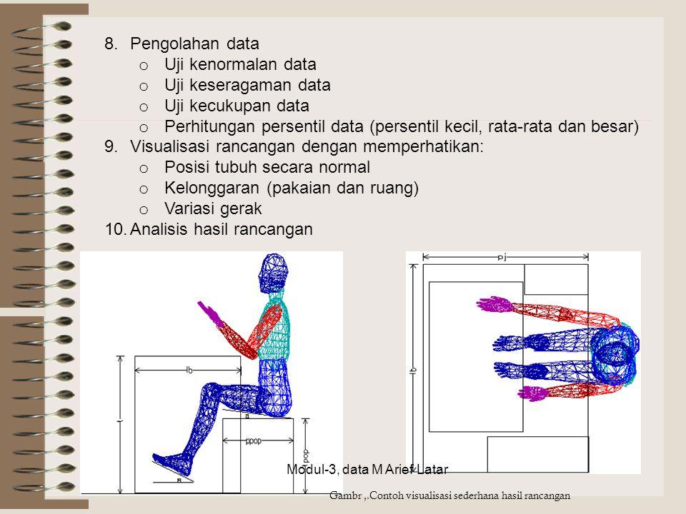 Perhitungan persentil data (persentil kecil, rata-rata dan besar)