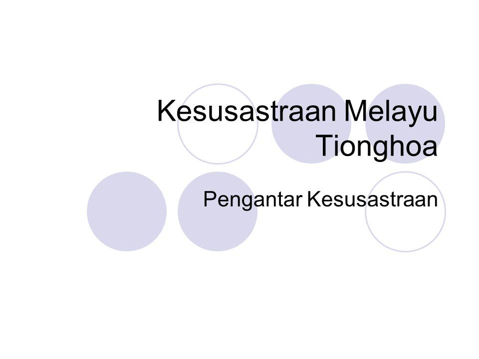 Kesusastraan Melayu Tionghoa