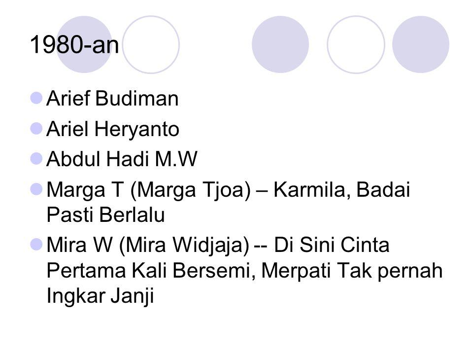 1980-an Arief Budiman Ariel Heryanto Abdul Hadi M.W