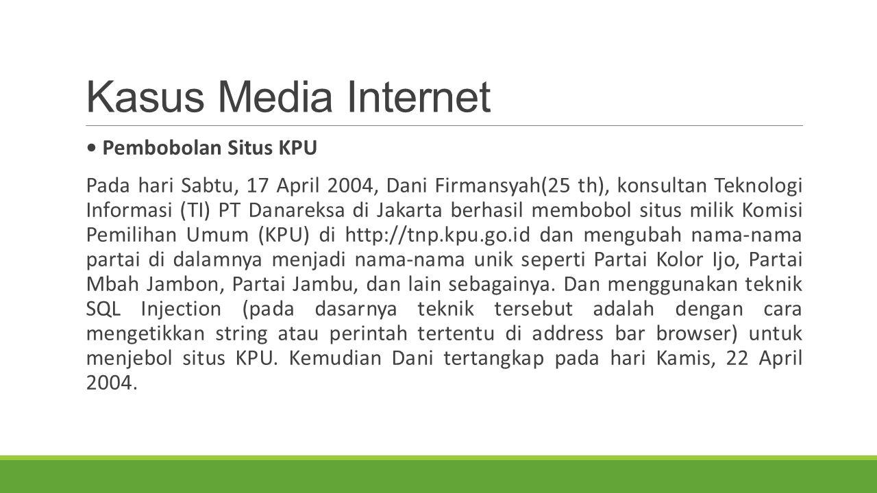 Kasus Media Internet • Pembobolan Situs KPU