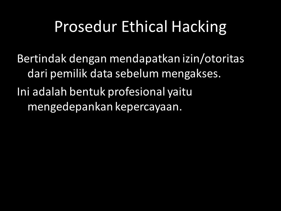 Prosedur Ethical Hacking