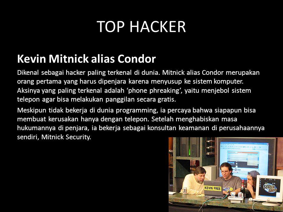 TOP HACKER Kevin Mitnick alias Condor