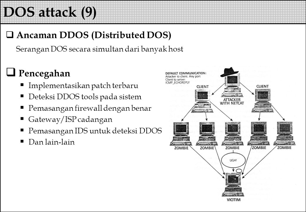 DOS attack (9) Ancaman DDOS (Distributed DOS)