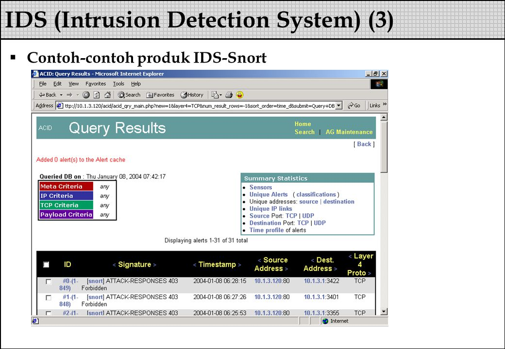 IDS (Intrusion Detection System) (3)