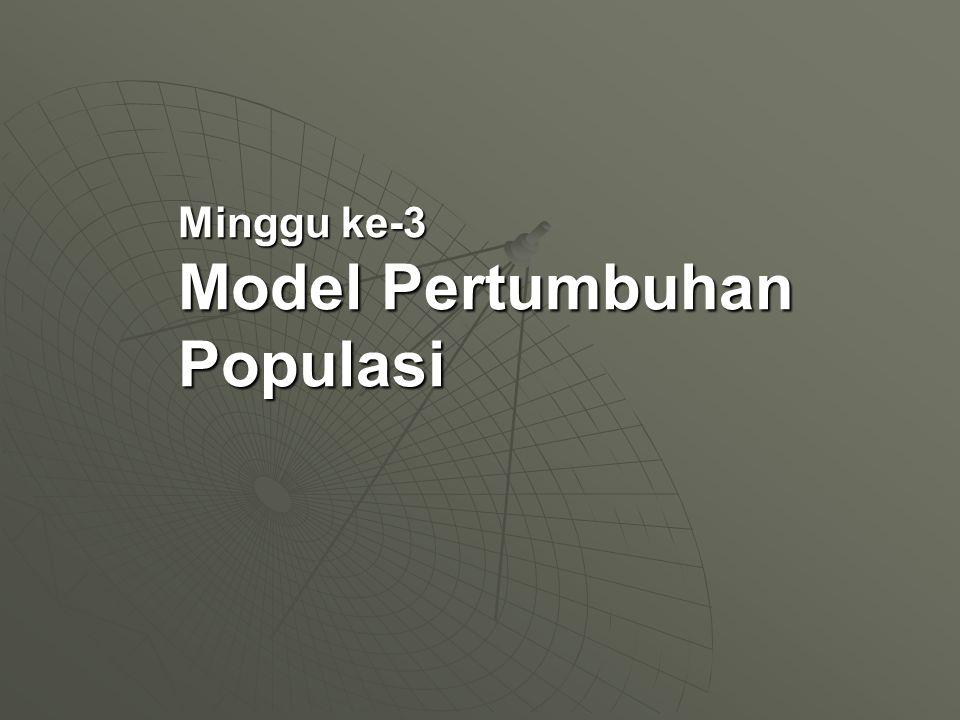 Minggu ke-3 Model Pertumbuhan Populasi