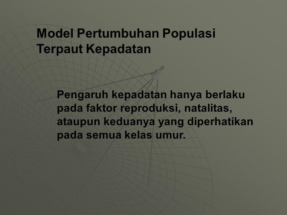 Model Pertumbuhan Populasi Terpaut Kepadatan