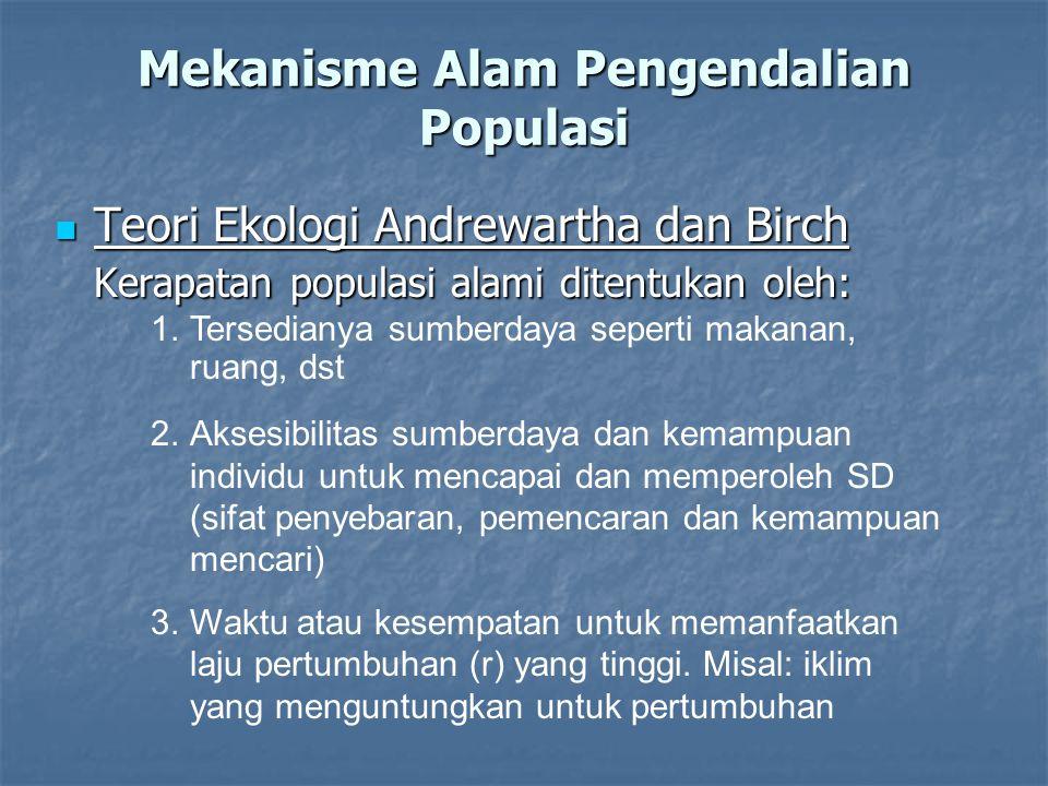 Mekanisme Alam Pengendalian Populasi