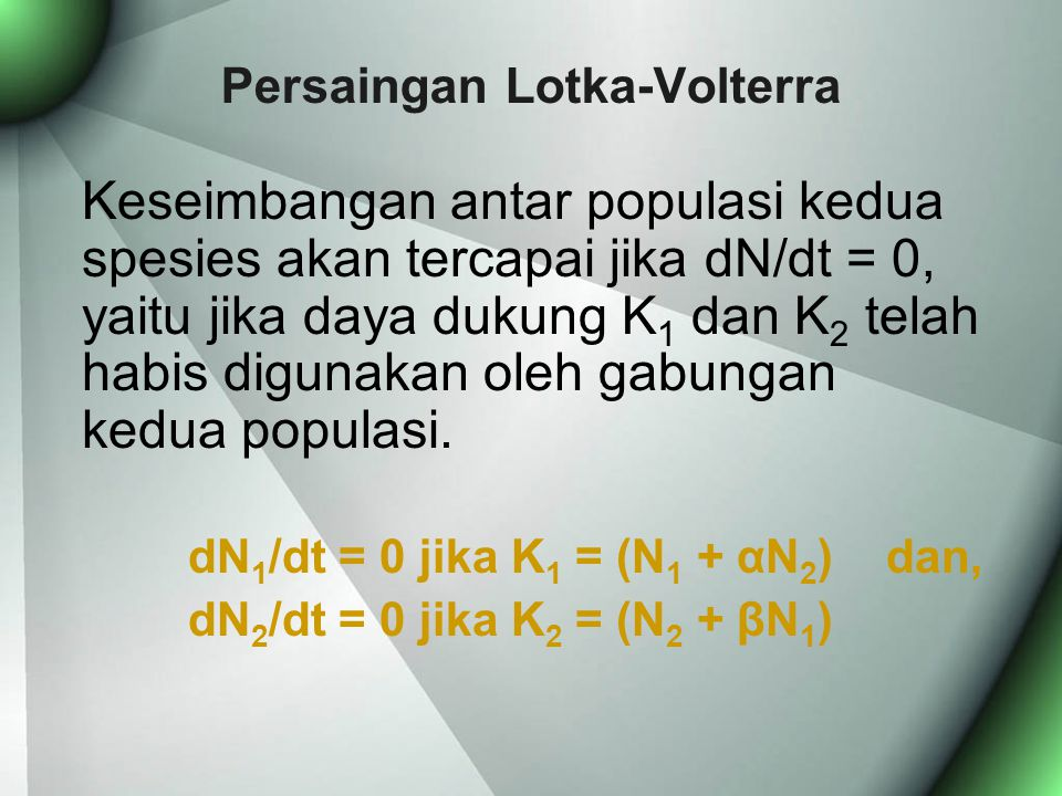 Persaingan Lotka-Volterra