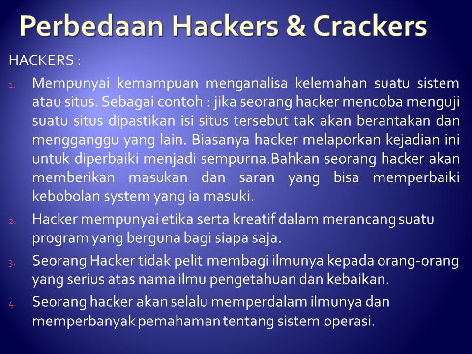 Perbedaan Hackers & Crackers