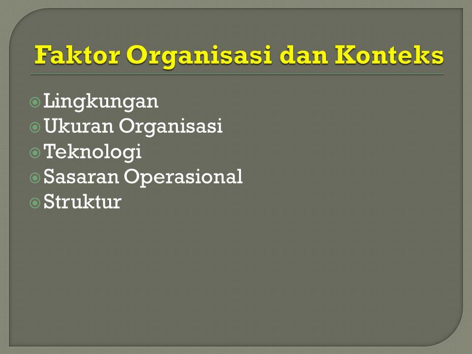 Faktor Organisasi dan Konteks