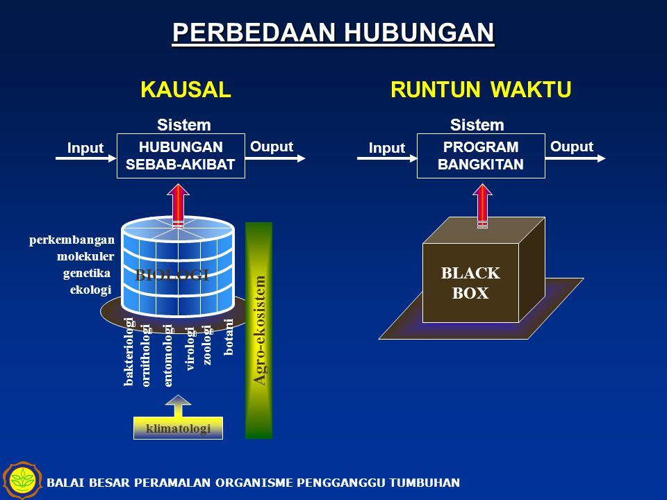 PERBEDAAN HUBUNGAN KAUSAL RUNTUN WAKTU Sistem Sistem BIOLOGI BLACK BOX