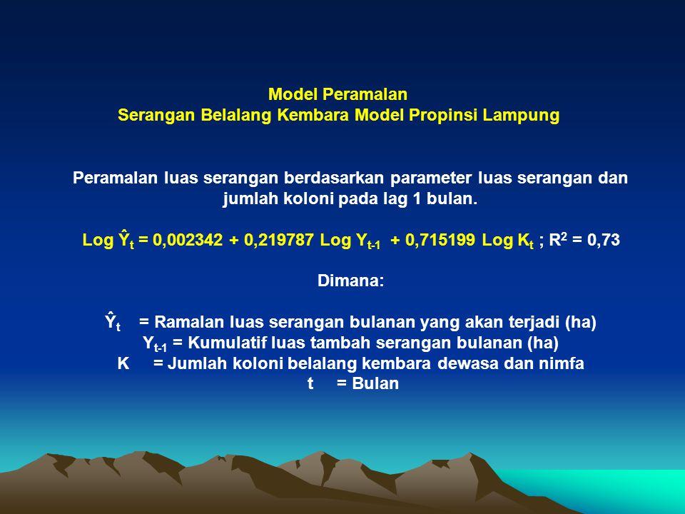 Serangan Belalang Kembara Model Propinsi Lampung