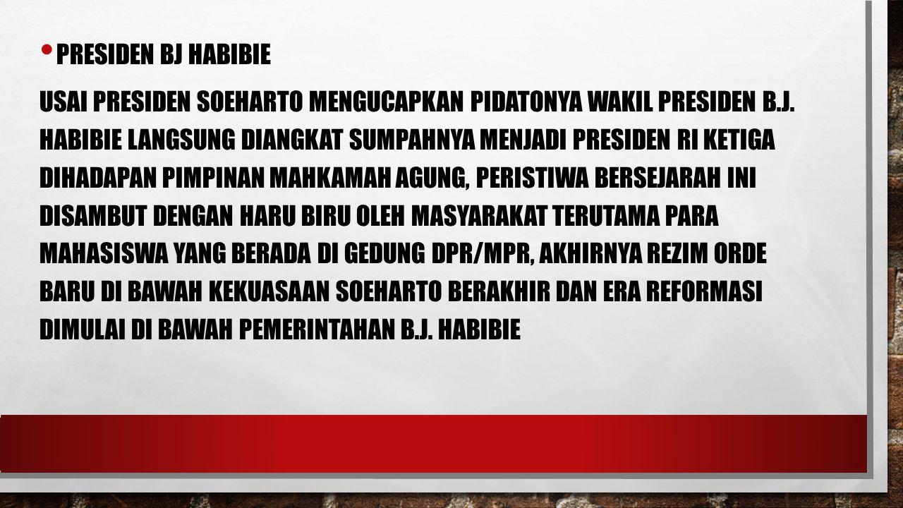 Presiden Bj Habibie