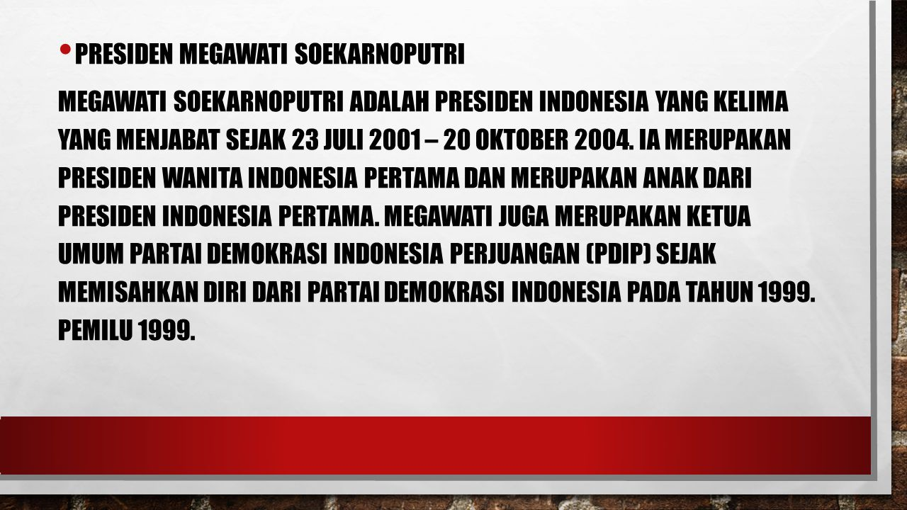 Presiden Megawati Soekarnoputri