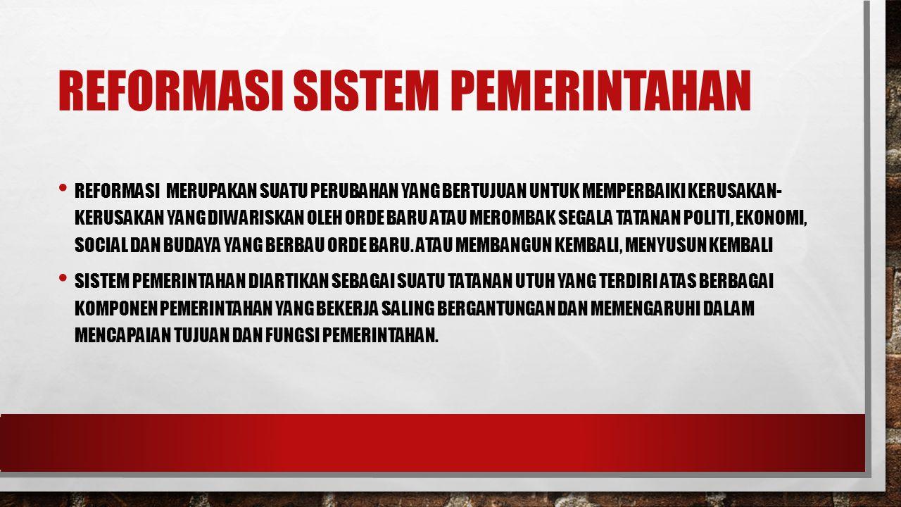 Reformasi Sistem Pemerintahan