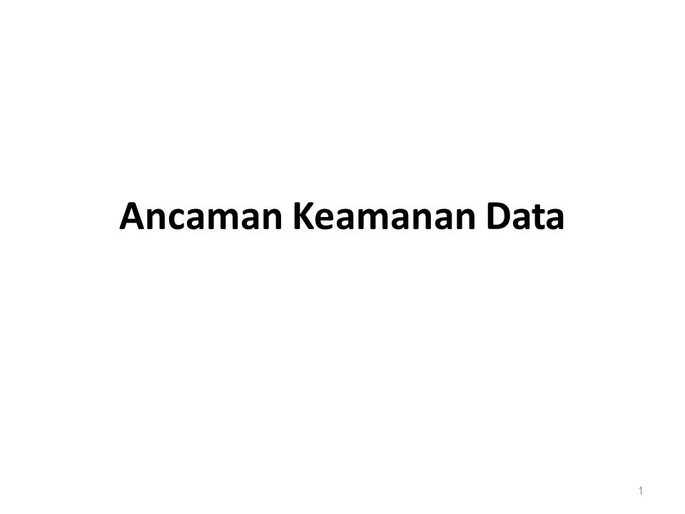 Ancaman Keamanan Data