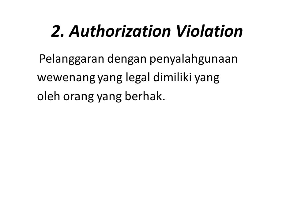 2. Authorization Violation