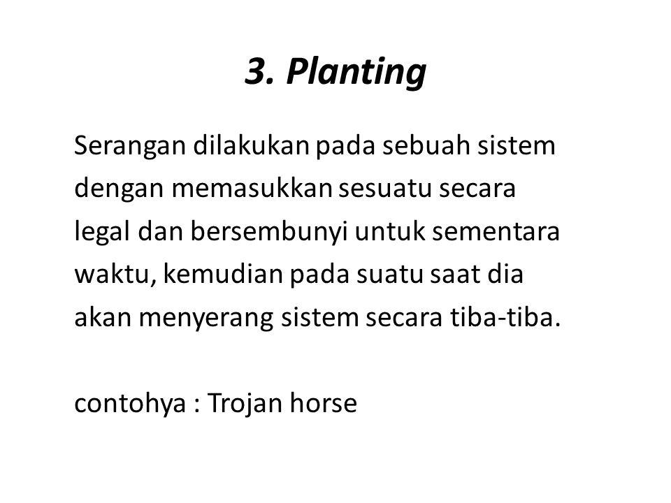 3. Planting Serangan dilakukan pada sebuah sistem