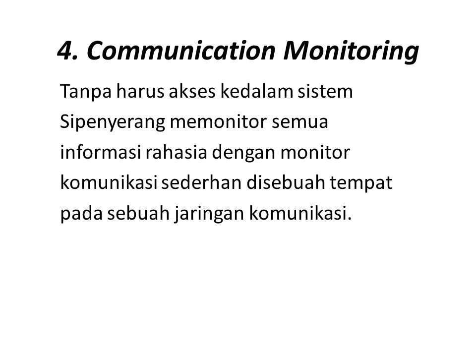 4. Communication Monitoring