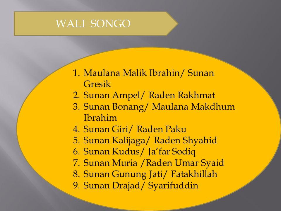 WALI SONGO Maulana Malik Ibrahin/ Sunan Gresik