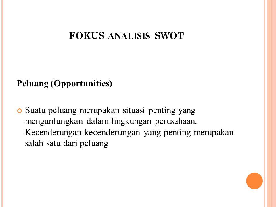 fokus analisis swot Peluang (Opportunities)