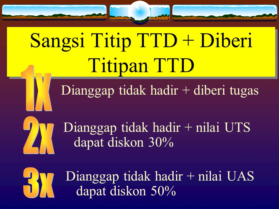 Sangsi Titip TTD + Diberi Titipan TTD