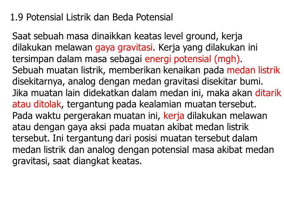 1.9 Potensial Listrik dan Beda Potensial