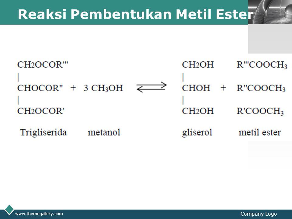 Reaksi Pembentukan Metil Ester