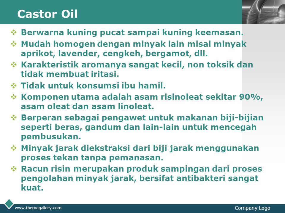Castor Oil Berwarna kuning pucat sampai kuning keemasan.