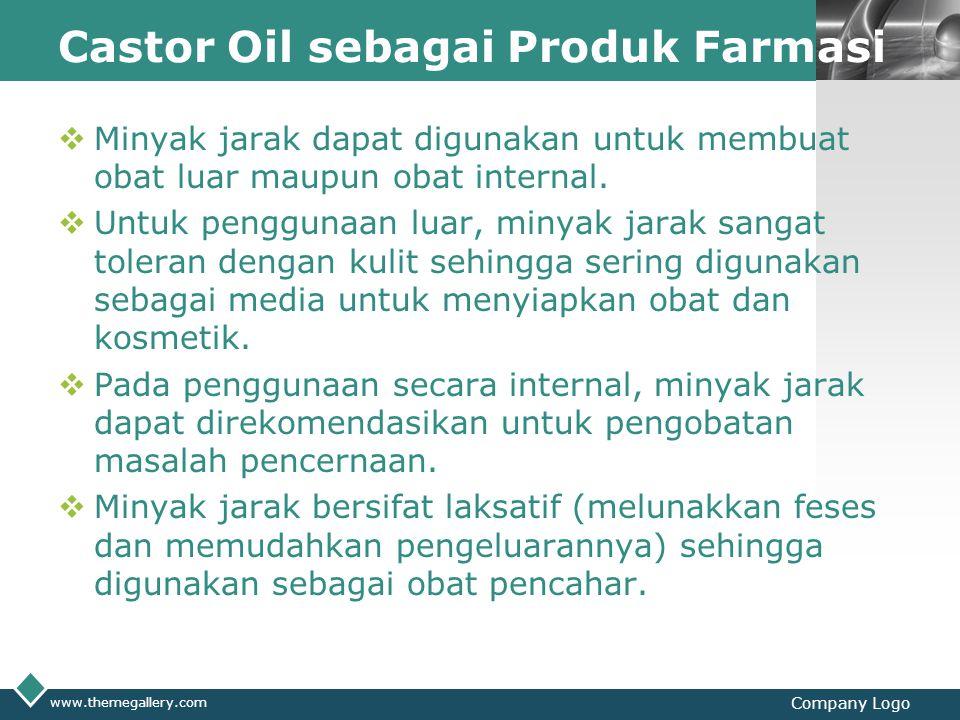 Castor Oil sebagai Produk Farmasi