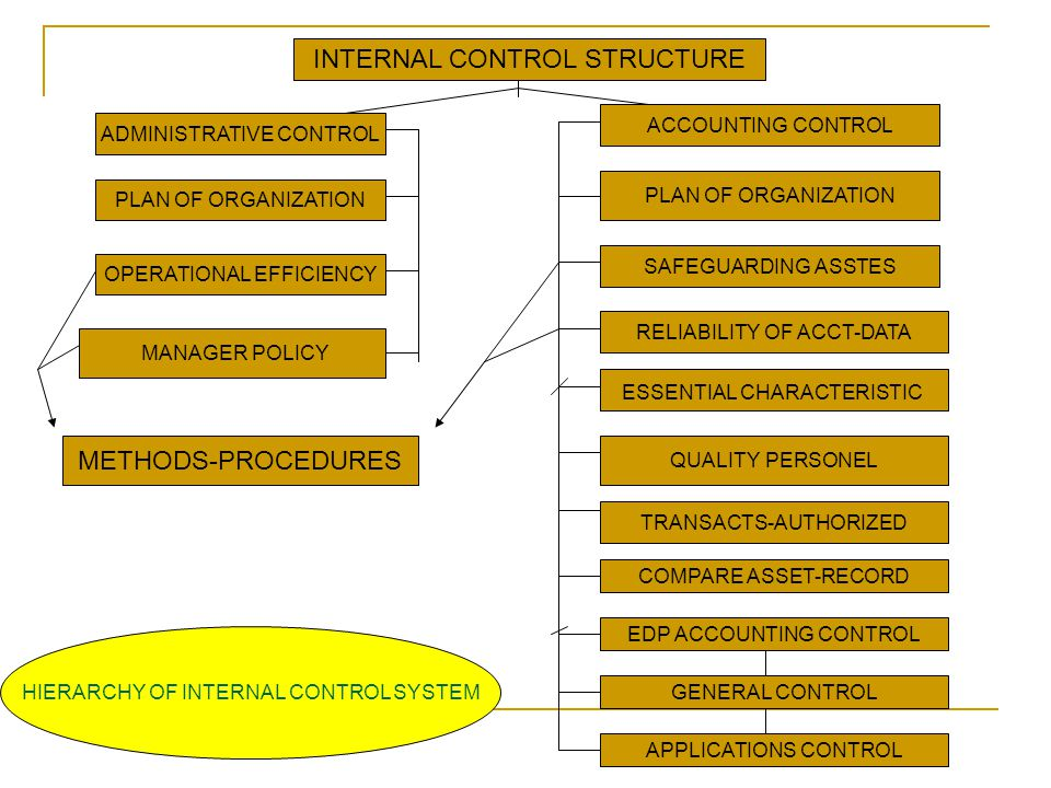 INTERNAL CONTROL STRUCTURE