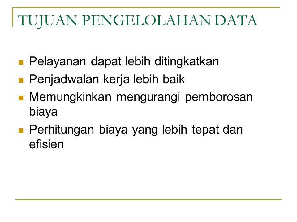 TUJUAN PENGELOLAHAN DATA
