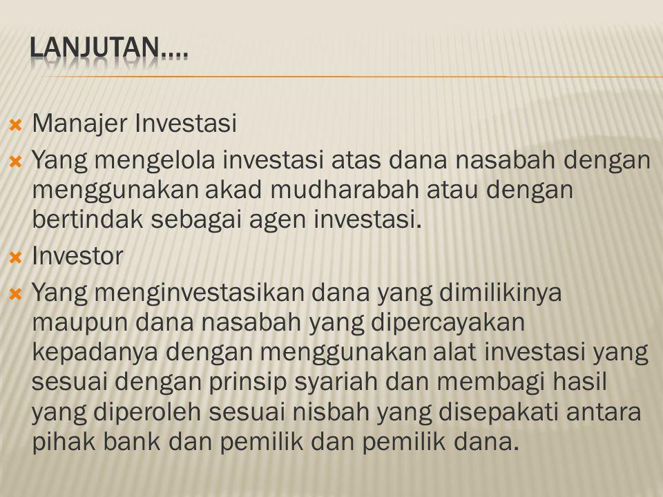 LANJUTAN…. Manajer Investasi