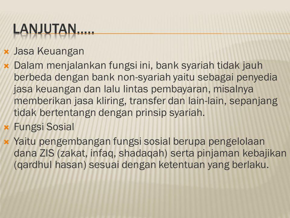 LANJUTAN….. Jasa Keuangan