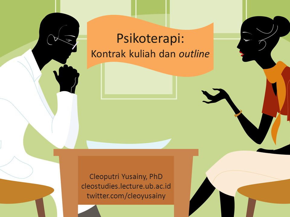 Psikoterapi: Kontrak kuliah dan outline