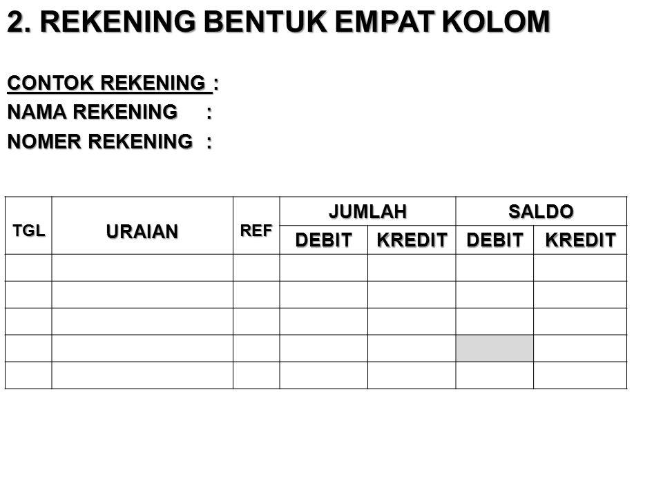 2. REKENING BENTUK EMPAT KOLOM