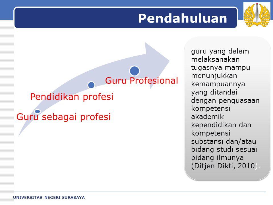 Pendahuluan Pendidikan profesi Guru sebagai profesi Guru Profesional