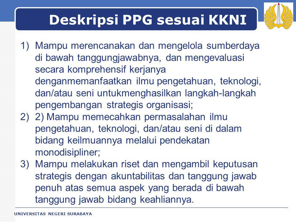 Deskripsi PPG sesuai KKNI