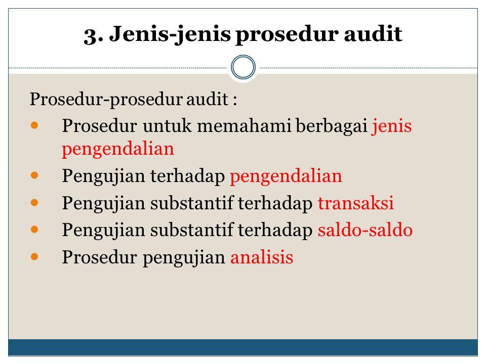 3. Jenis-jenis prosedur audit
