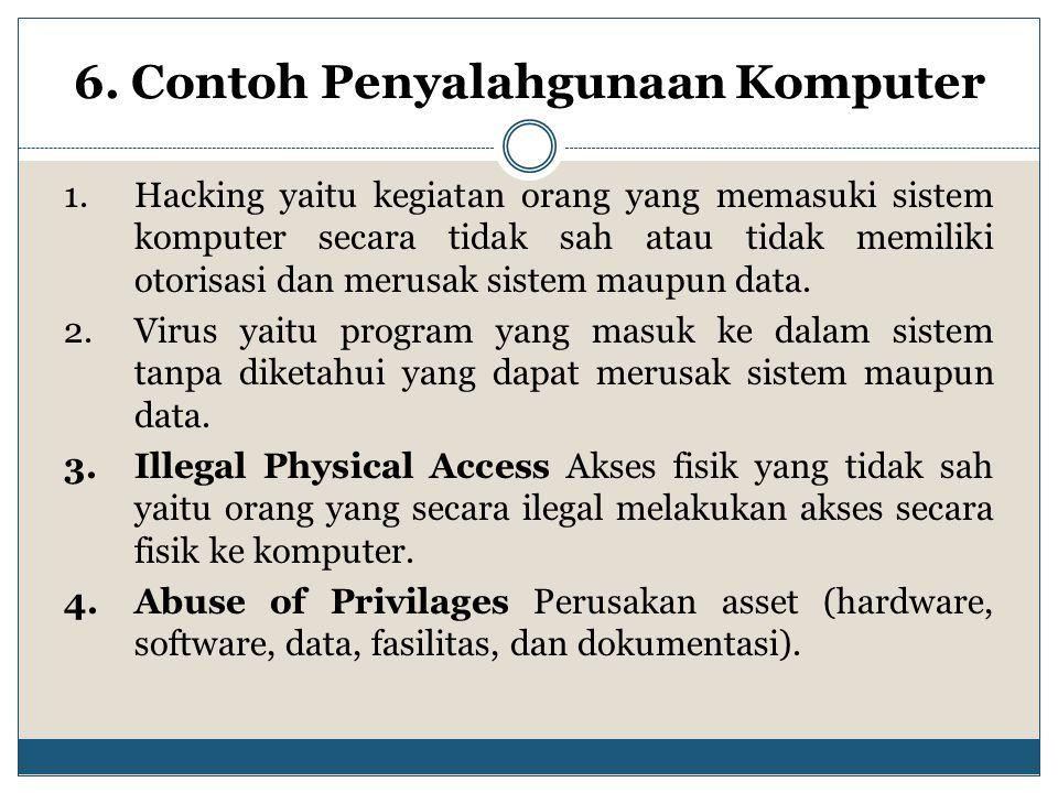 6. Contoh Penyalahgunaan Komputer