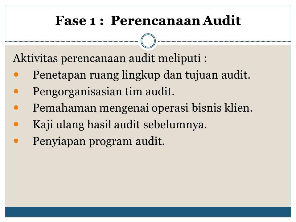 Fase 1 : Perencanaan Audit