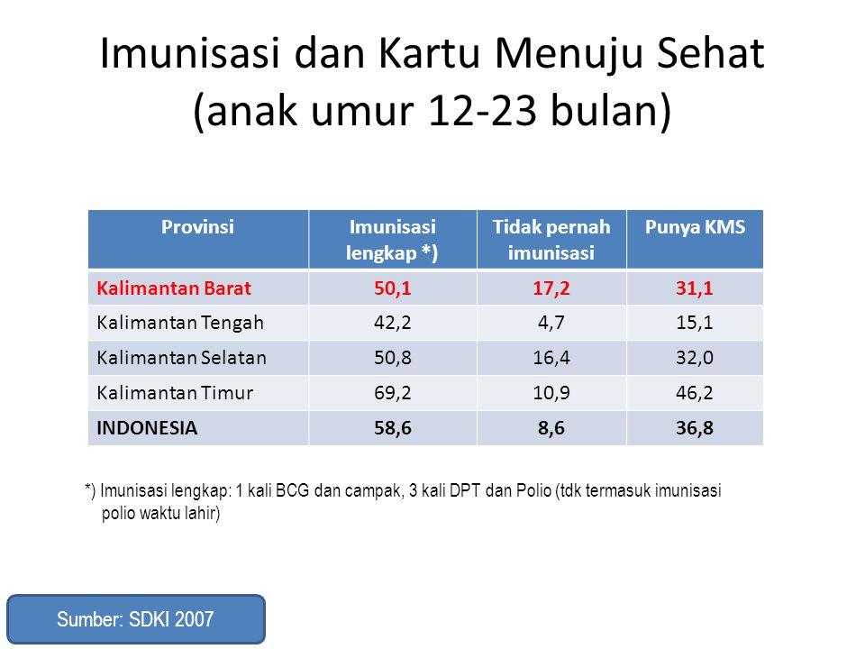 Imunisasi dan Kartu Menuju Sehat (anak umur 12-23 bulan)