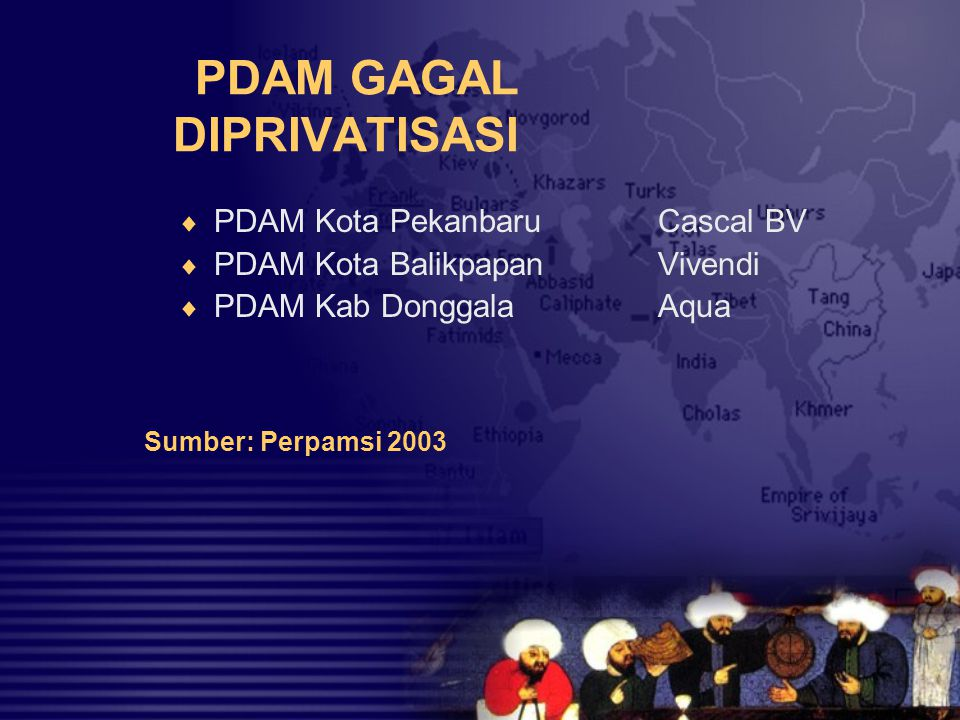 PDAM GAGAL DIPRIVATISASI