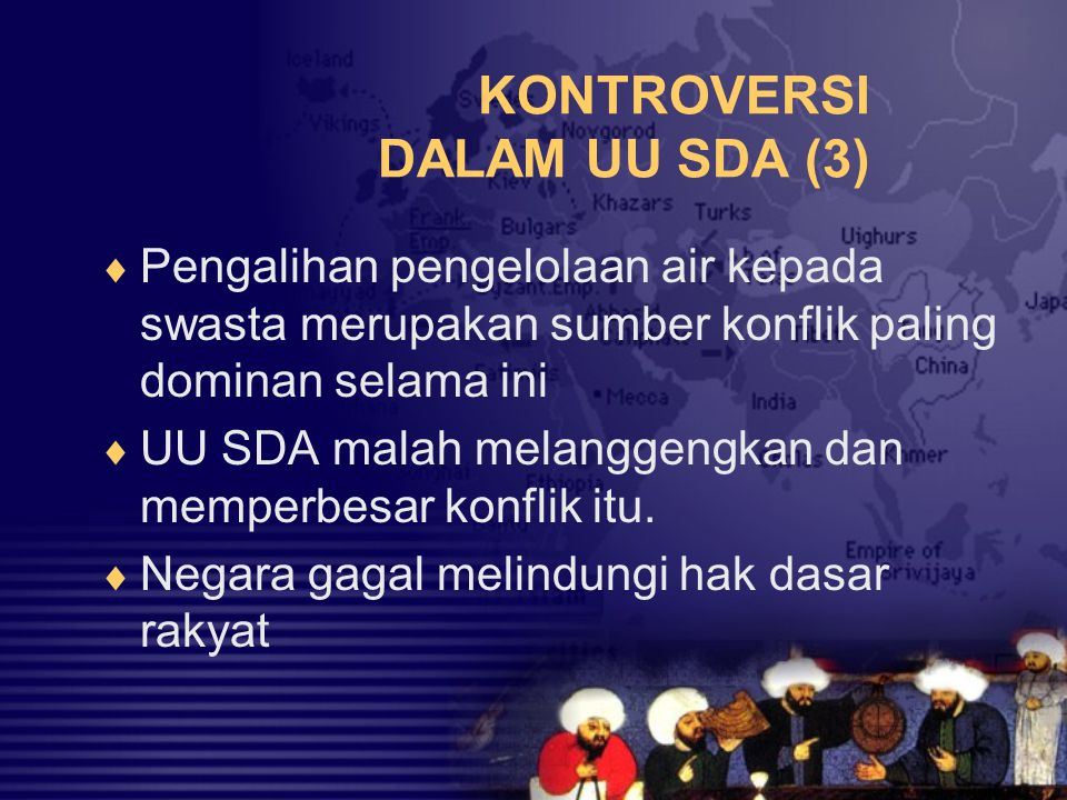 KONTROVERSI DALAM UU SDA (3)