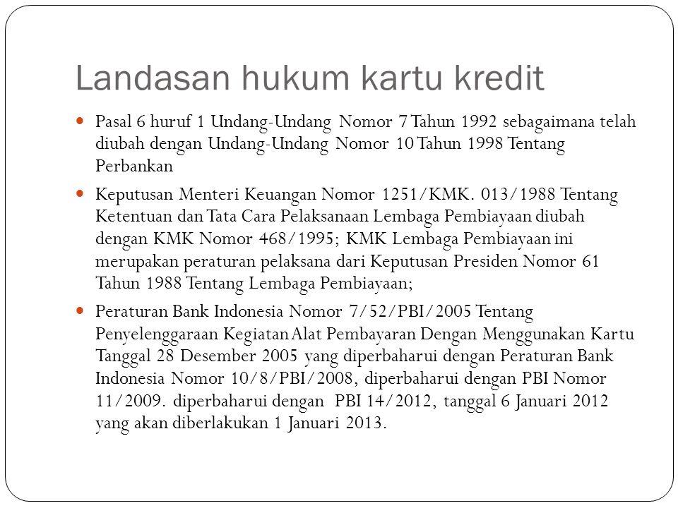 Landasan hukum kartu kredit